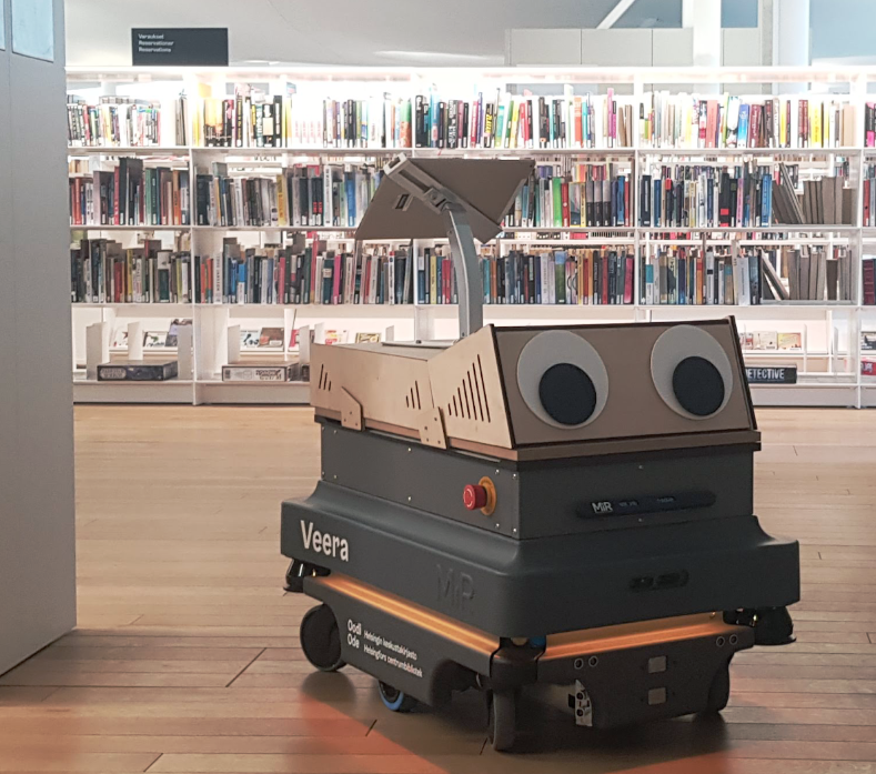 Robotic librarian in Helsinki gets new googly eyes to combat abuse